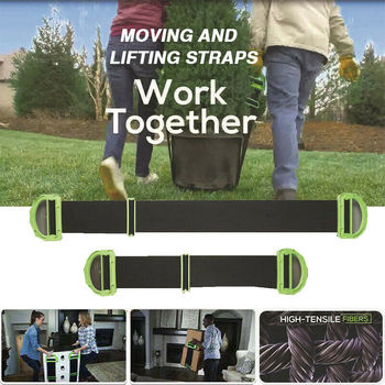 New Useful Lifting Moving Strap Furniture Transport Straps Mover Easier Conveying Storage For Furniture Boxes Mattress image