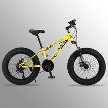 Горный велосипед 21 скорость 2,0X4,0 «дорожный велосипед жира велосипед спереди и сзади механические дисковые тормоза Для женщин и детские велосипеды