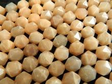 Comercio al por mayor increíble natural 9*10mm Piedra Del Sol hecha a mano talló cuarzo granos flojos para diseño de toma de jewewlry