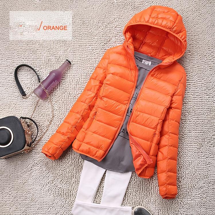 SEDUTMO Winter Plus Size 4XL Womens Down Jackets Short Ultra Light Duck Down Coat Hooded Puffer Jacket Autumn Parkas ED034 7