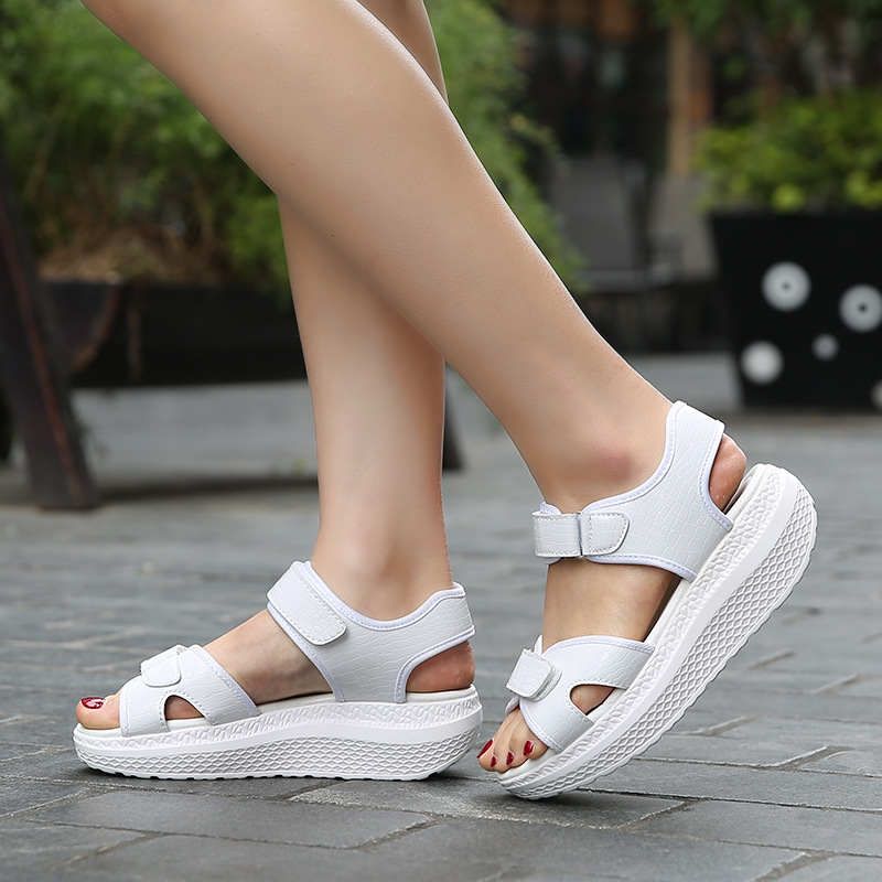 2017 Summer shoes woman Platform Sandals Women Soft Leather Casual Open Toe Gladiator wedges Women Shoes Flats 2017 gladiator summer shoes woman platform sandals women flats soft leather casual open toe wedges sandals women shoes r18