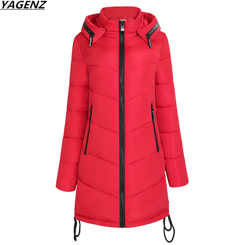 Thick Warm Winter Jacket Women Fashion Parkas Hooded Outerwear Plus Size M-3XL Cotton-padded  Winter Coat Women Clothing YAGENZ 2017 winter women long hooded cotton coat plus size padded parkas outerwear thick basic jacket casual warm cotton coats pw1003