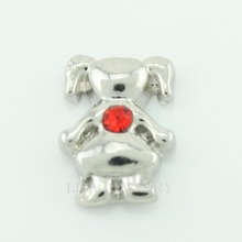 Hot selling 10PCS little girl july birthstone floating charms for glass floating lockets