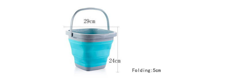 High Quality 10L Square Bucket Portable Folding Washing Hands Basin Foldable Camping Outdoor Fishing Sink Storage Water9