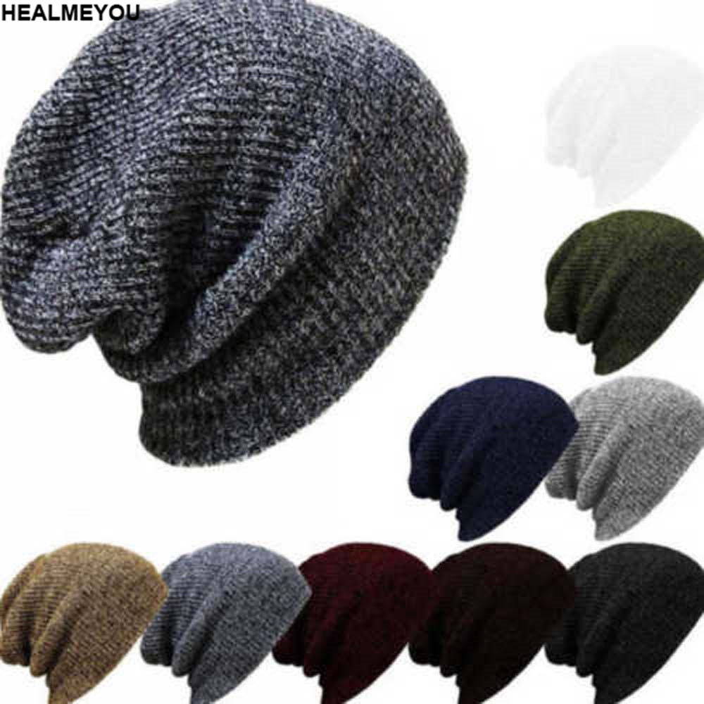 5f40196d369 Unisex Men Women Knit Baggy Beanie Winter Hat Ski Slouchy Chic Knitted Cap  Skull-in Skullies   Beanies from Apparel Accessories on Aliexpress.com