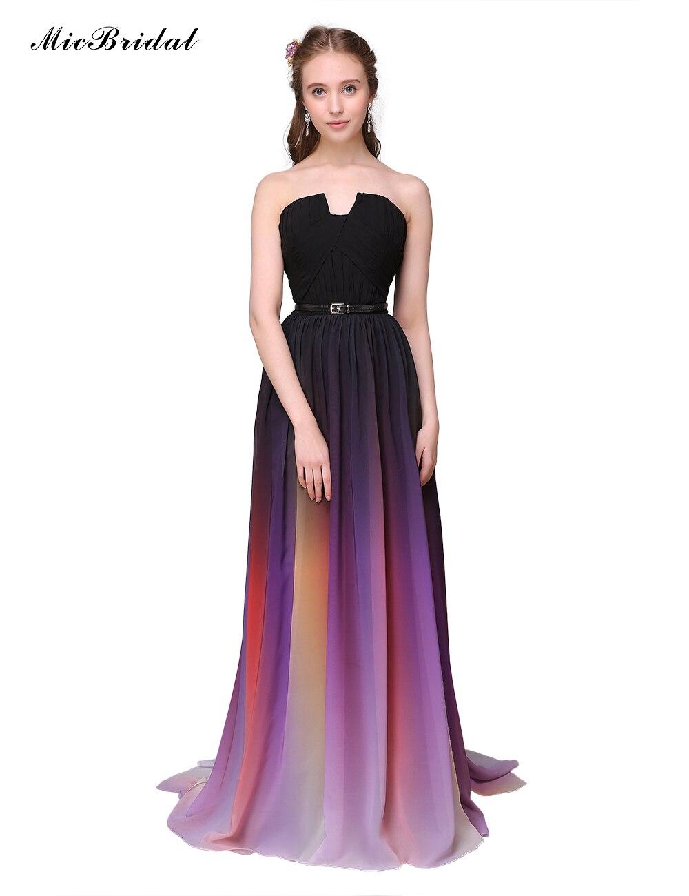 online kaufen gro handel regenbogen abendkleid aus china. Black Bedroom Furniture Sets. Home Design Ideas