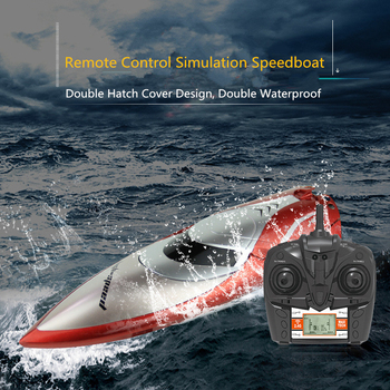 2.4G 180 Degree Flip High Speed Remote Control Boat 4CH Racing Speedboat LCD Screen 28KM/h Water Circulation Cooling Device