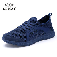 LEMEI New Leisure Men Running Shoes Autumn Spring Breathable Air Mesh Boy Sneakers For Men Super