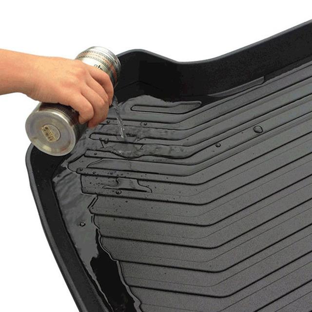 Para Volvo XC90 2016-2018 negro tronco de carga piso plataforma de carga bandeja de piso de estilo de coche accesorios 1 piezas