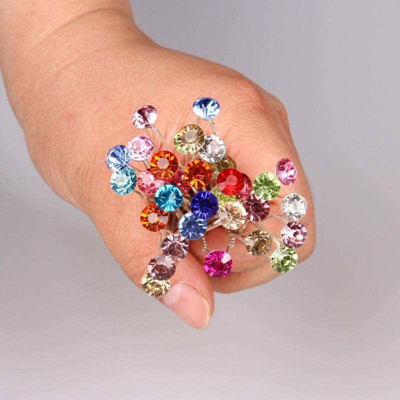 10pcs/lot Wholesale Hair Accessories Simple Fashion Hair Pins Single Drill Hairpins Women Hair Jewelry(7.7mm) CZ-JD40