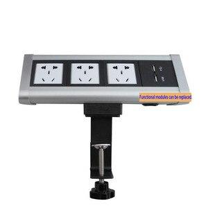 Image 1 - Fabrika doğrudan satış taşınabilir/no açılış masası/klip masaüstü multimedya masaüstü soketi şık uygun soket PD 01