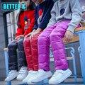 2016 новый Корейский мальчик и девочка вниз брюки детская одежда новых осенью и зимой дети вниз брюки для девочки