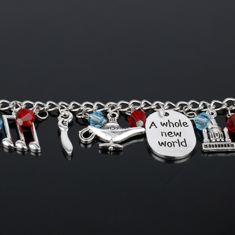 Aladdin Charm Bracelets & Bangles Letter A Whole New World Animals - Bisutería - foto 4