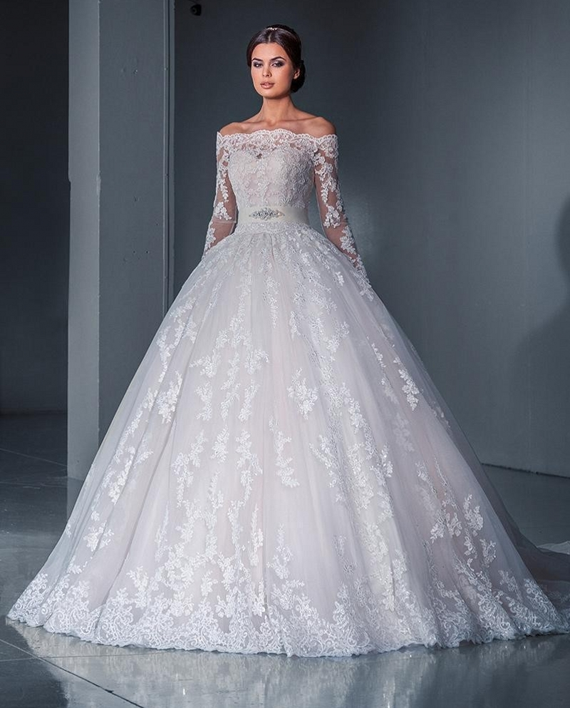 Vestido De Noiva 2018 Princess Wedding Dress Ball Gown Off: Vestidos De Noiva 2018 Ball Gown Lace Wedding Gowns Long