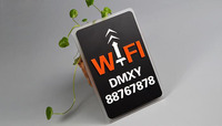 Wifi Wireless Network Sign Free Wall Sticker Broadband Internet Access Numbers Indicating Acrylic Decoration Stickers