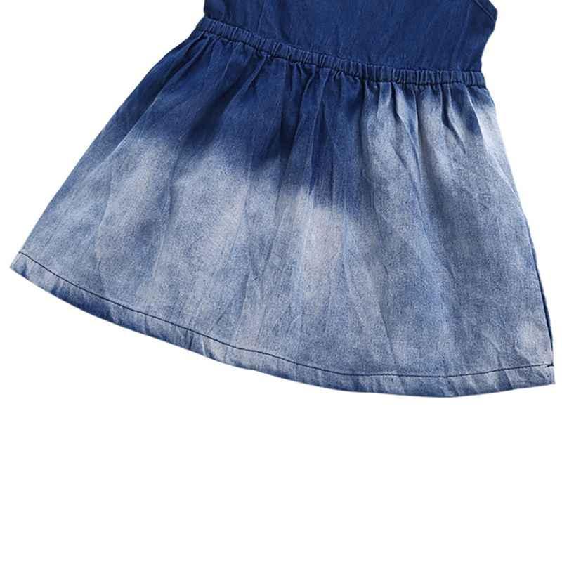 Одежда для маленьких девочек платье без рукавов для маленьких девочек джинсовое платье в европейском и американском стиле для детей от 1 до 3 лет, M1