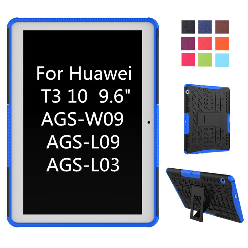 Case For Huawei MediaPad T3 10 AGS-W09 AGS-L09 AGS-L03 9.6 Cover Heavy Duty 2 in 1 Hybrid Rugged Durable Funda Tablet Shell for huawei mediapad t3 7 0 wifi case soft silicone case cover for huawei mediapad t3 7 0 bg2 w09 7 inch tablet pc gifts