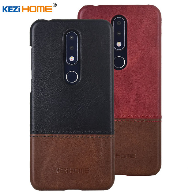 online store 1b641 45944 US $11.98 20% OFF|Case for Nokia 6.1 Plus KEZiHOME Luxury Hit Color Genuine  Leather Hard Back Cover capa For Nokia 6.1Plus X6 TA 1099 Phone cases-in ...