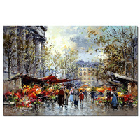 New Arrived High Quality Hand Painted Good Textured Knife Painting For Living Room Handmade Europe Street