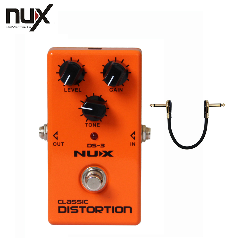NUX DS-3 True Bypass Classic Distortion Effects Pedal for Guitar nux ch 3 chorus guitar pedal true bypass design electric guitar effects pedal free shipping
