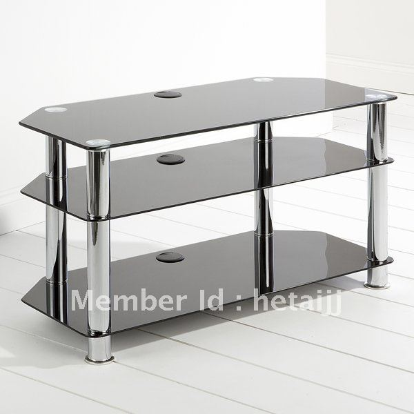 Black Glass Tempered Metal Tv Stand In Tv Stands From Furniture On
