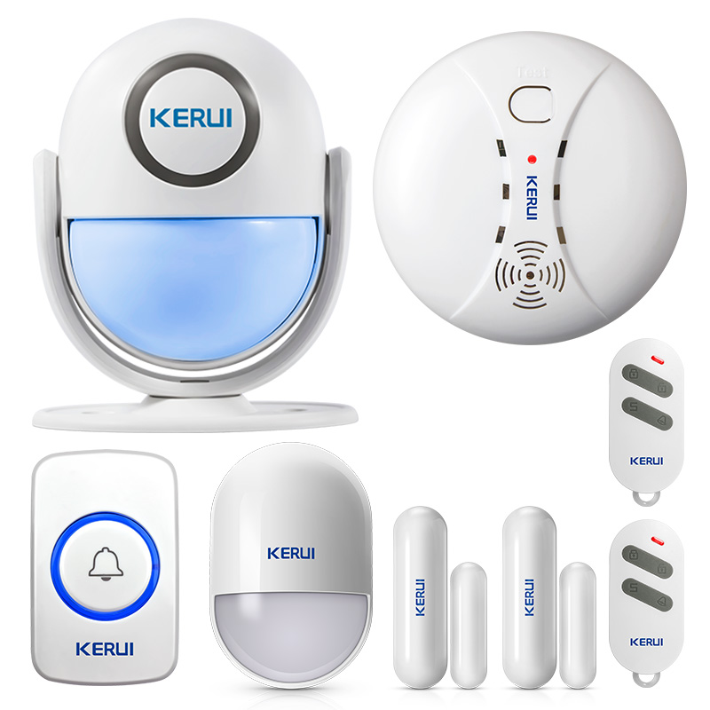 Kerui Wireless High-performance Portable Remote Control 4 Buttons Keychain For Wifi Gsm Pstn Home Security Alarm System Security & Protection Alarm Remote Controller