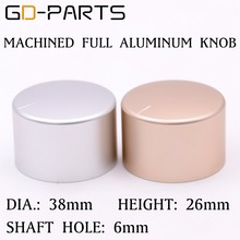 38x26mm Machined Full Aluminum Volume Pointer Knob For Hifi AMP DAC Turntable Recorder Sound Control Rotary Switch Cap Button