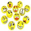 12 шт./компл. Emoji Лица Сожмите Мяч Стресс Рук Наручные Пальцев Упражнение Стресс Помощи Терапии-случайные Стили подарок игрушки