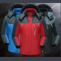 Winter Jacket Men Cotton Padded Mens Jackets And Coats Solid Thick Hood Wool Liner Waterproof Casual Outwear Man Winter Parkas