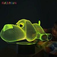 כלב מגע מנורת לילה 3D אור ילדים צעצוע LED 3D מנורת שולחן 7 צבעים LED מהבהבים אור חג המולד עבור בית