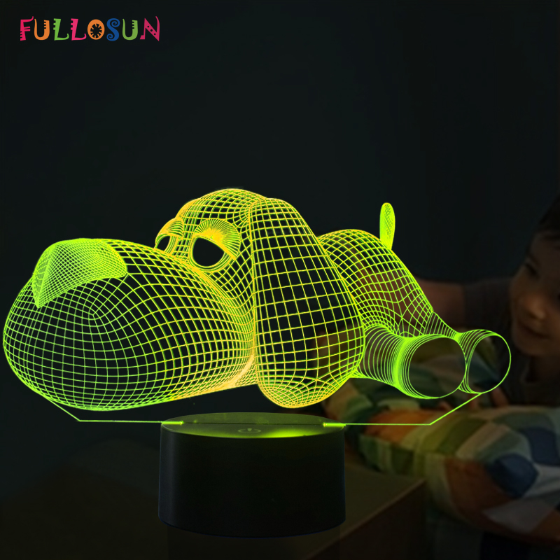 Dog Lamp 3D Night Light Kids Toy LED 3D Touch Table Lamp 7 Colors Flashing LED Light Christmas Decorations for Home cat 3d night light animal changeable mood lamp led 7 colors usb 3d illusion table lamp for home decorative as kids toy gift