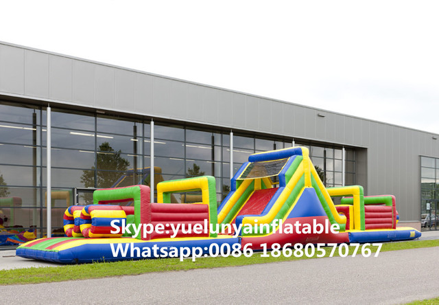 (China Guangzhou) manufacturers selling inflatable slides,Inflatable color obstacles KY-712