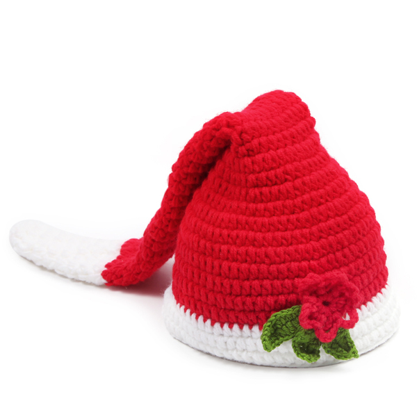 Handmade Christmas Baby Cocoon   Long Stocking ELF Beanie Hat Infant Santa  Photo Props Toddler Crochet Costume Set 1set H009-in Hats   Caps from  Mother ... 26d65aa64ede