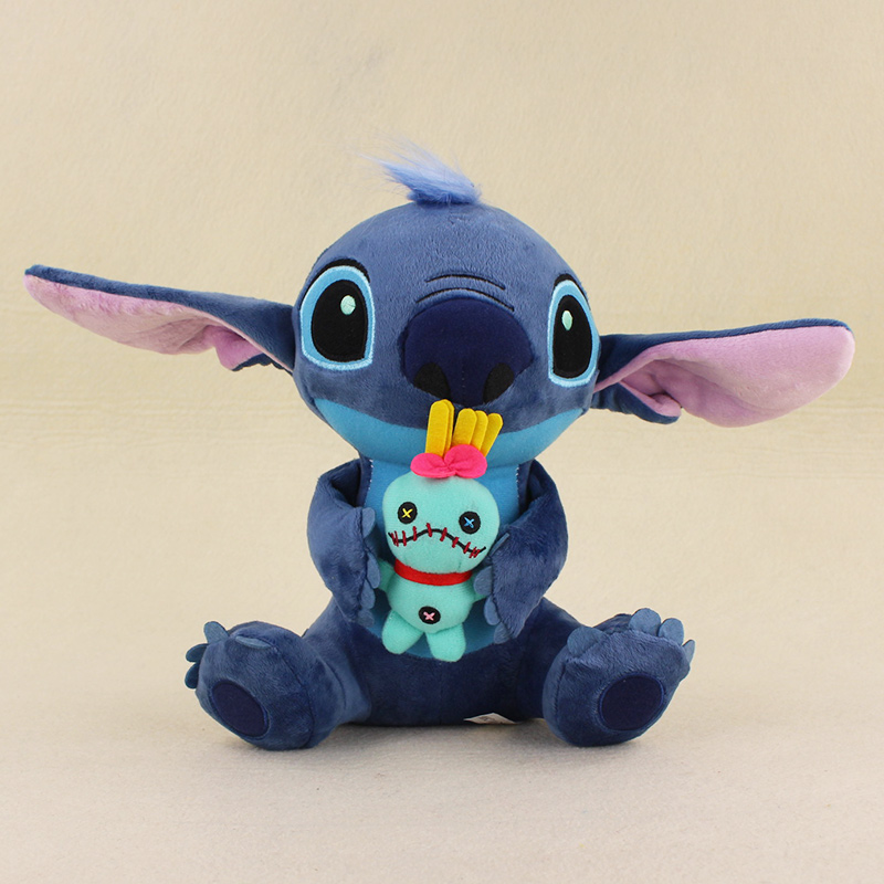 23cm Kawaii Stitch Plush Doll Toys Big Lilo and Stitch Plush Toy Scrump Soft Stuffed Toys Doll for kids gifts kawaii big stuffed