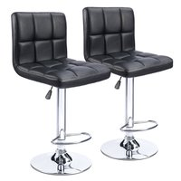 Homall Bar Stools Swivel Black Bonded Leather Height Adjustable Pub Bar Chair Furniture, Set of 2 US FR DE Stock T HFBS00
