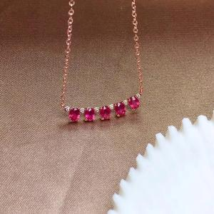 Image 4 - Einfache 925 Silber Natürlichen Rubin Halskette ist hoch empfohlen für Göttin Halskette