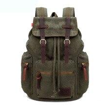 GOOG.YU 30L Multifunctional Military Canvas Backpacks Duffle Shoulder Bags  Men's Casual Travel Luggage Bag Army Bucket Backpack