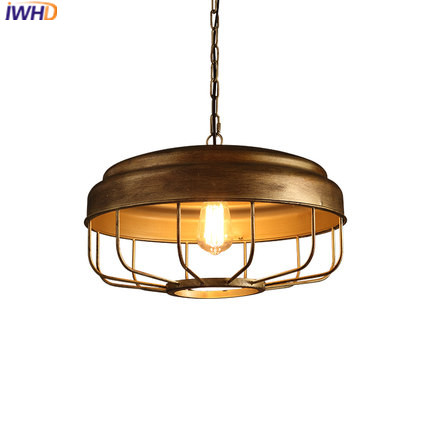 IWHD Iron Hanglamp Vintage Pendant Lamp Loft Style Retro Industrial Lamp  Kitchen Dining Home Lighting Fixtures Luminaire Lamps iwhd gold iron style loft industrial vintage pendant lights retro birdcage hanging lamp kitchen dining room luminaire suspendu