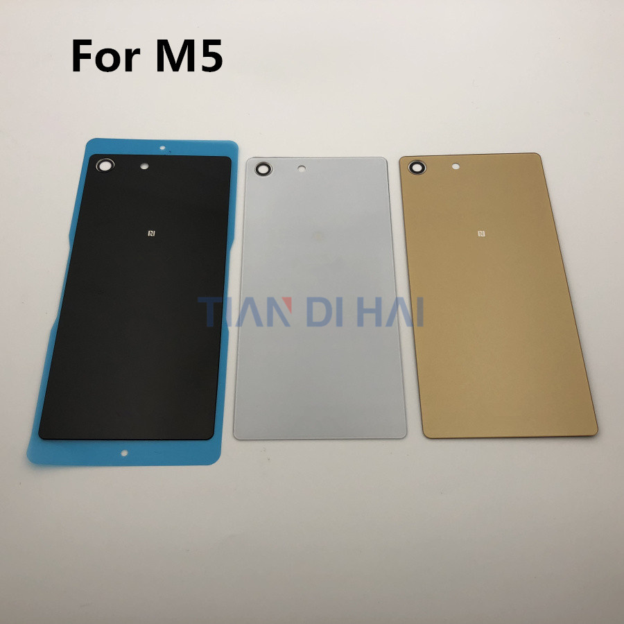 M5 New Housing Glass Back Cover For Sony Xperia M5 Dual E5603 E5606 E5633 E5643 E5653 E5663 Battery Cover Case Housing Door
