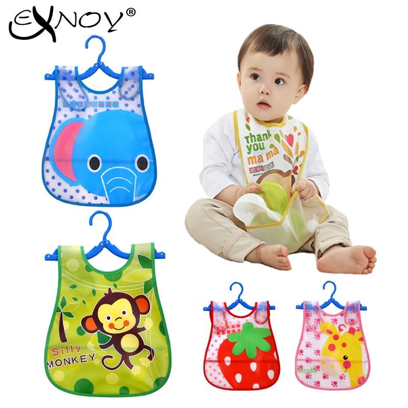 Baby Bib Hasp Cartoon Three Layer Waterproof Large Cotton Children Bib