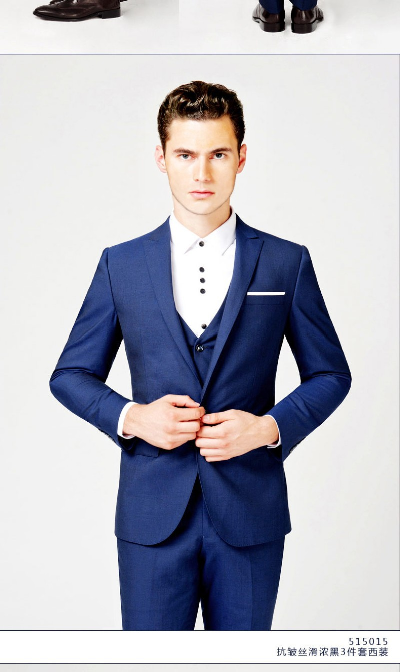 2015 Hot Sale Tuxedos Groom Bridegroom Suit Groom Suits (Jacket+ ...