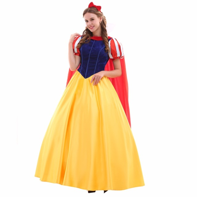 Cosplaydiy Custom Made Snow White Dress Costume Adult Princess Wedding Party Halloween Version 2