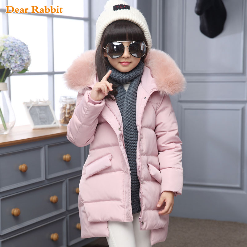 9a6faac43387 2018 Fashion Girl winter down Jackets Children Coats warm baby 100% thick  duck Down Kids Outerwears for cold -30 degree jacket