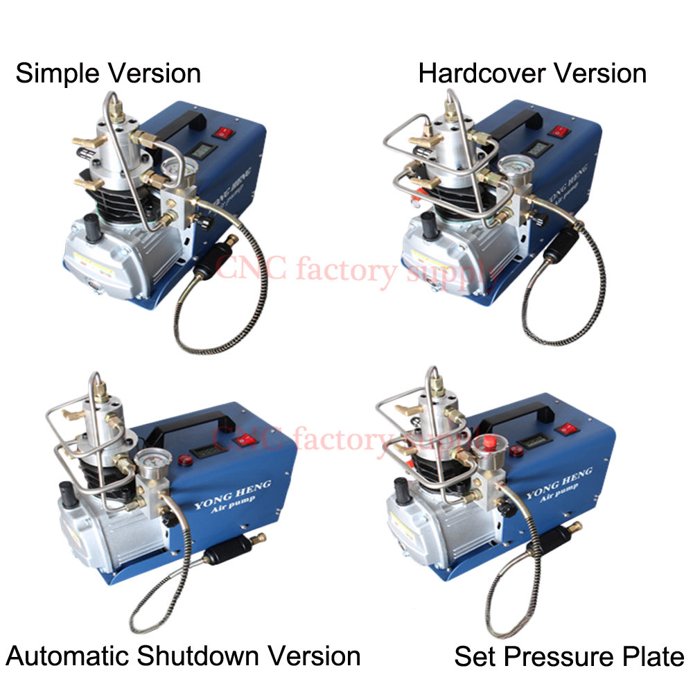 300BAR 30MPA 4500PSI 220v 110v Electric High Pressure Air Pump Electric Air Compressor Pneumatic Airgun Scuba