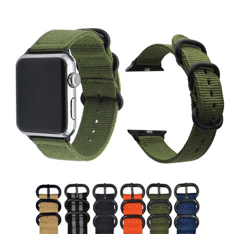 Nylon Watch Band for Apple Watch Band for IWatch Series 1 2 3 Band 38mm/42 Mm Wrist Bracelet Watch Strap for Apple Watch 4 Band