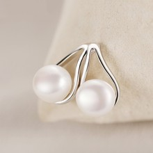 925 Sterling Silver Water Drop Natural Pearl Jewelry Set