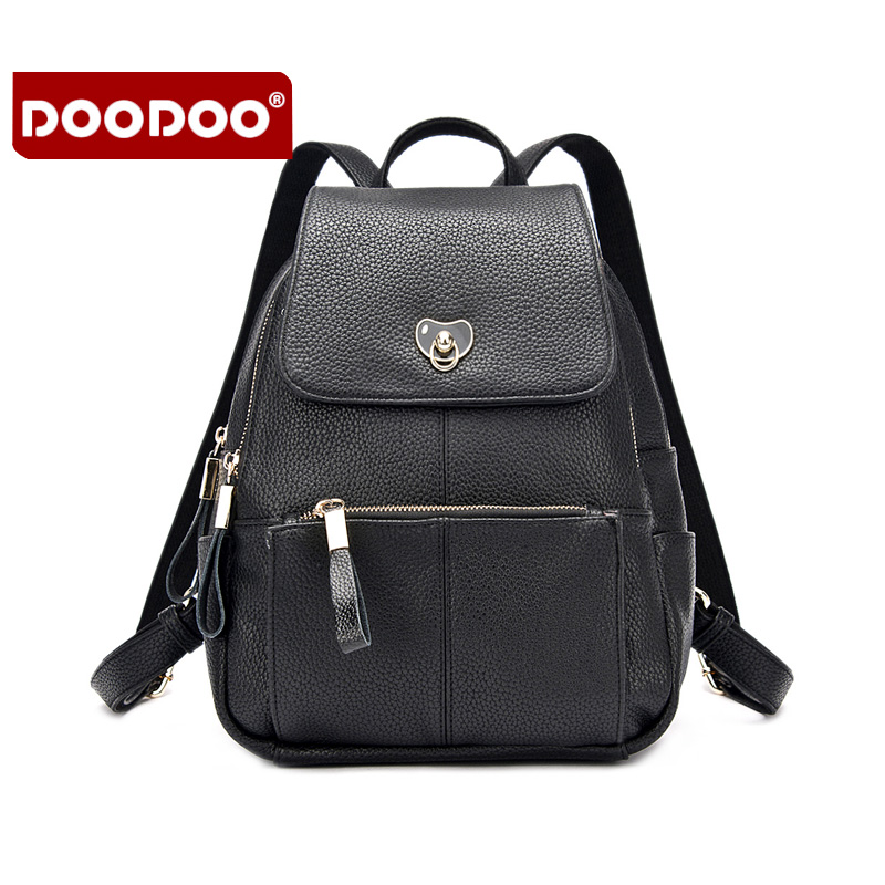 DOODOO 2016 New Design High Quality Backpacks For Women Fashion Casual Backpack PU Leather Women Backpacks