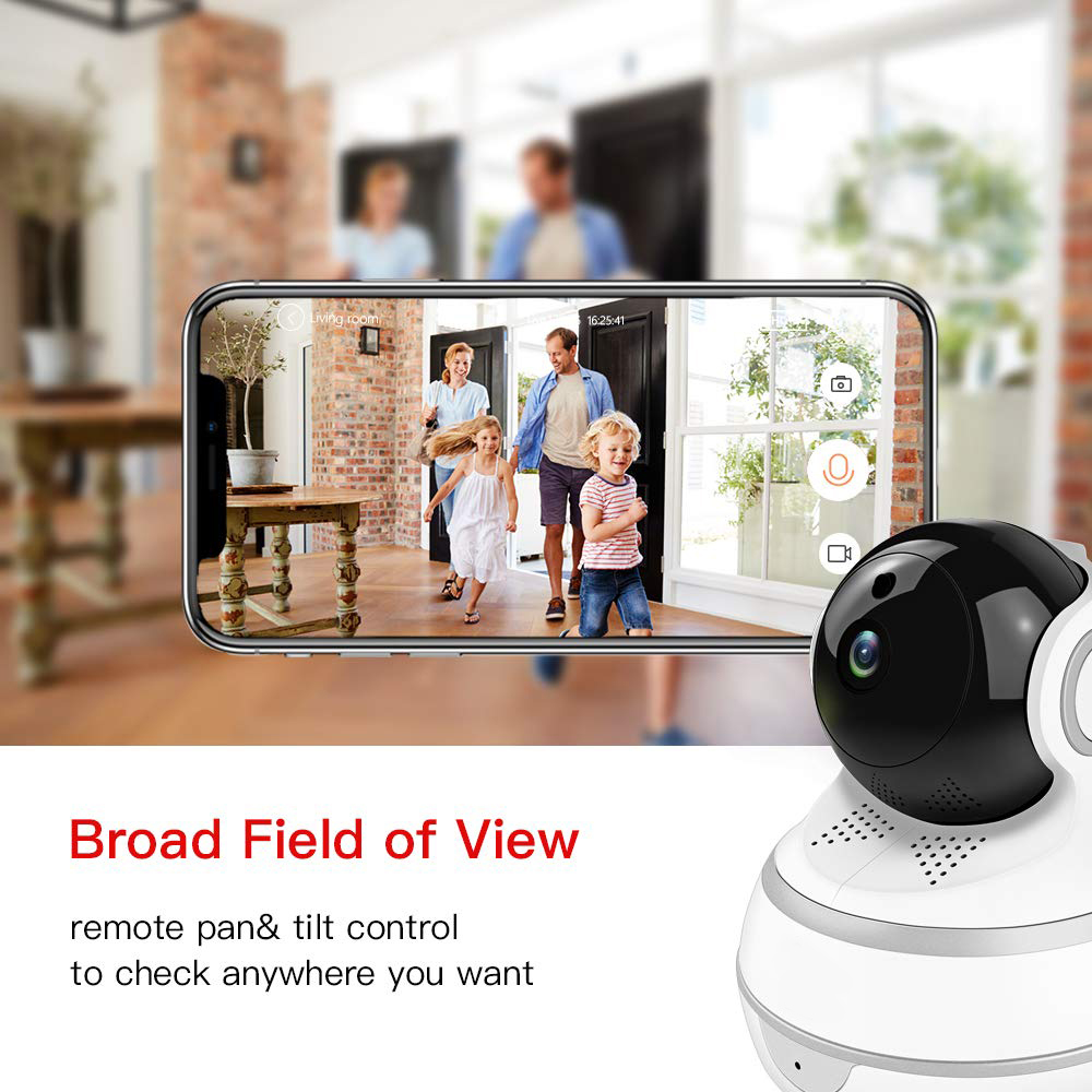 Image 3 - Lonsonho Smart Wifi IP Camera Wireless Home Security 1080P 2MP Two Way Audio Motion Detector IR Night Vision Tuya Smart Life APP-in Surveillance Cameras from Security & Protection
