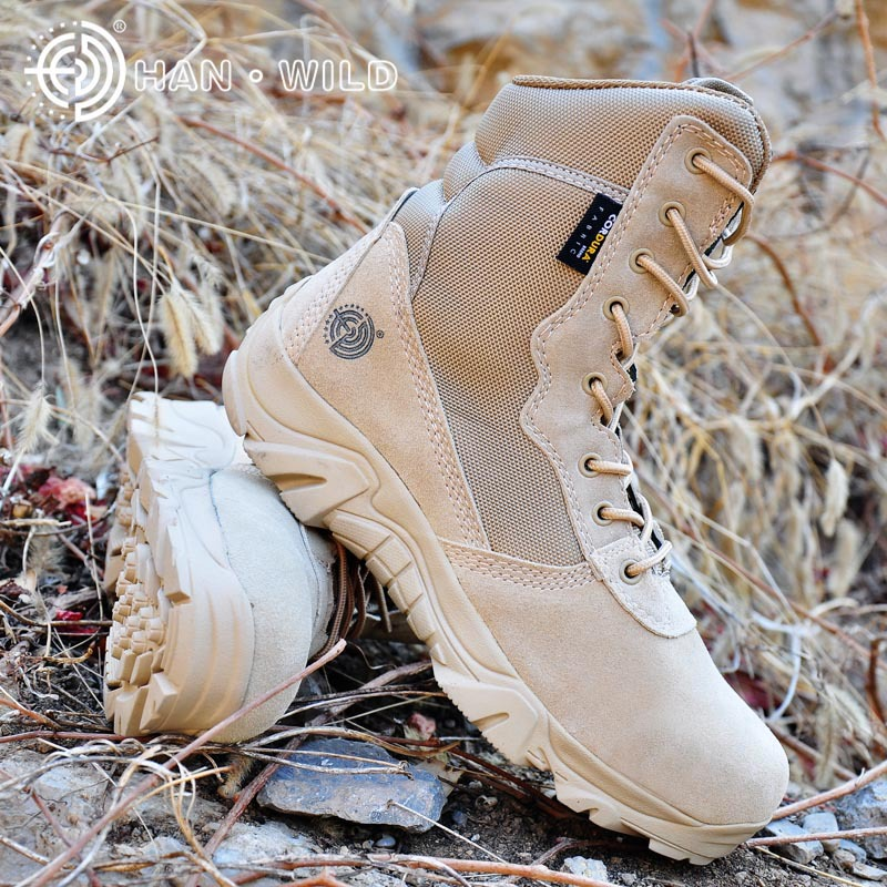 Men Military Army Boots Suede Leather Breathable Waterproof Lace Tactical Combat Ankle Boot Men's Desert Casual Shoes men s desert military boots touch guy cow suede genuine leather ankle martin boot