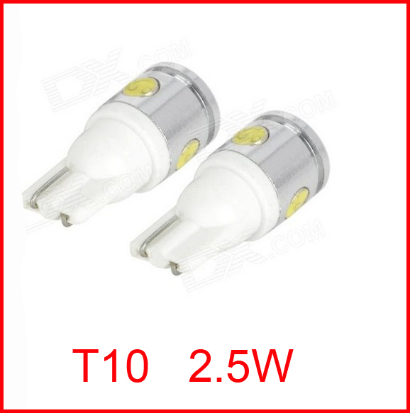 HotSale 2.5W High Power White <font><b>4</b></font> <font><b>SMD</b></font> LED Car <font><b>T10</b></font> W5W 194 927 161 Side Wedge Light Lamp Bulb,2pcs/lot,NEW image